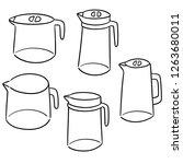 vector set of water pitcher | Shutterstock .eps vector #1263680011