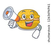 with megaphone banana macarons... | Shutterstock .eps vector #1263696961