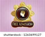 gold badge or emblem with head ... | Shutterstock .eps vector #1263699127