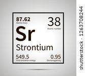 strontium chemical element with ... | Shutterstock .eps vector #1263708244