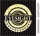 eyesight gold badge or emblem | Shutterstock .eps vector #1263711337