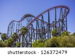 Thrill Ride In Six Flag