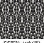 geometric trendy leaves vector...   Shutterstock .eps vector #1263729091