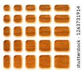 light brown wooden set of... | Shutterstock . vector #1263731914