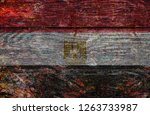 wood egypt flag | Shutterstock . vector #1263733987
