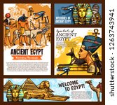 welcome to egypt  ancient... | Shutterstock .eps vector #1263743941
