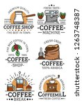 coffee shop  cafe and... | Shutterstock .eps vector #1263748387