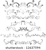 floral design elements | Shutterstock .eps vector #12637594