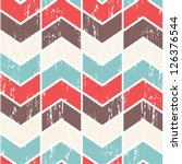 seamless vector chevron pattern.... | Shutterstock .eps vector #126376544