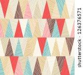 seamless vector geometric... | Shutterstock .eps vector #126376571