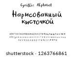 cyrillic alphabet handwritten...   Shutterstock .eps vector #1263766861