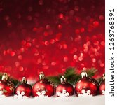 christmas balls with candy on... | Shutterstock . vector #1263768391