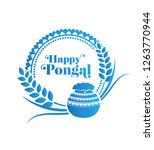 happy pongal design with round... | Shutterstock .eps vector #1263770944