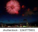 beautiful firework display for... | Shutterstock . vector #1263775831