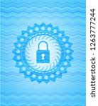 closed lock icon inside water... | Shutterstock .eps vector #1263777244