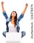 successful woman online  ... | Shutterstock . vector #126378374