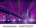 modern metropolis night... | Shutterstock .eps vector #1263792157