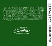 merry christmas icon banner... | Shutterstock .eps vector #1263793654