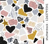 seamless abstarct pattern with... | Shutterstock .eps vector #1263795541