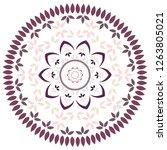 leaf and petal floral mandala... | Shutterstock .eps vector #1263805021