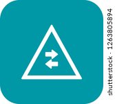 vector two way traffic crosses... | Shutterstock .eps vector #1263805894