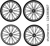 road and mountain bike wheels... | Shutterstock .eps vector #126380807