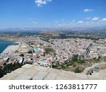 Europe, Greece, Nafplion, view of the beautiful modern  city, surrounded by hills