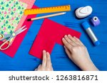 making greeting card for... | Shutterstock . vector #1263816871