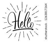 hello lettering. handwritten... | Shutterstock .eps vector #1263817264