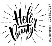 hello beauty lettering.... | Shutterstock .eps vector #1263817267