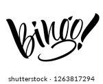 bingo lettering. handwritten... | Shutterstock .eps vector #1263817294