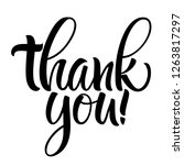 thank you lettering.... | Shutterstock .eps vector #1263817297