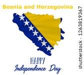 1 march  bosnia and herzegovina ... | Shutterstock .eps vector #1263819367