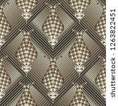 3d textured striped modern...   Shutterstock .eps vector #1263822451