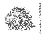 the head of a lion in an...   Shutterstock .eps vector #1263830164