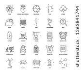 25 business concept mix line... | Shutterstock .eps vector #1263841744