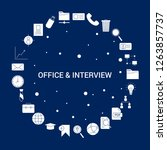 creative office and interview... | Shutterstock .eps vector #1263857737
