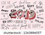 some silvery number shaped...   Shutterstock . vector #1263886057