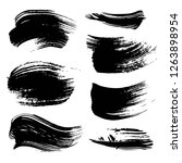 abstract black ink strokes set... | Shutterstock .eps vector #1263898954