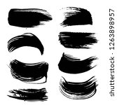 abstract black ink paint long... | Shutterstock .eps vector #1263898957