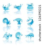 splashing waves and water with... | Shutterstock .eps vector #126390221