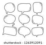 hand draw bubble collection ... | Shutterstock .eps vector #1263912091