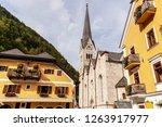 hallstatt town with its famous... | Shutterstock . vector #1263917977