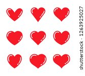 heart love symbol collection | Shutterstock .eps vector #1263925027