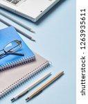 notebooks  pencils  pens ... | Shutterstock . vector #1263935611