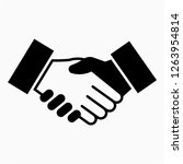 glyph shake hand pixel perfect... | Shutterstock .eps vector #1263954814