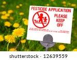 Pesticide Application Sign Wit...