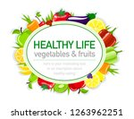 healthy life template for... | Shutterstock .eps vector #1263962251