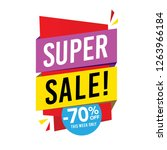 sale and special offer tag ... | Shutterstock .eps vector #1263966184