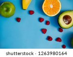 fresh fruit for smoothies on a...   Shutterstock . vector #1263980164